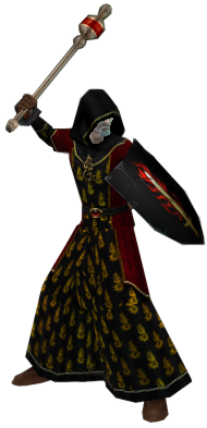 Confessor wielding a Gilded Scepter